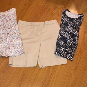 Talbots size 10 khaki Bermuda shorts